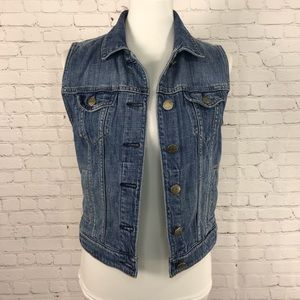 J Crew Indigo Denim Jean Vest Size XS